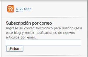 Subscripción por email